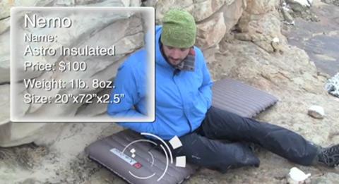 Nemo Astro Insulated Sleeping Pad: Editors' Choice Gold 2010