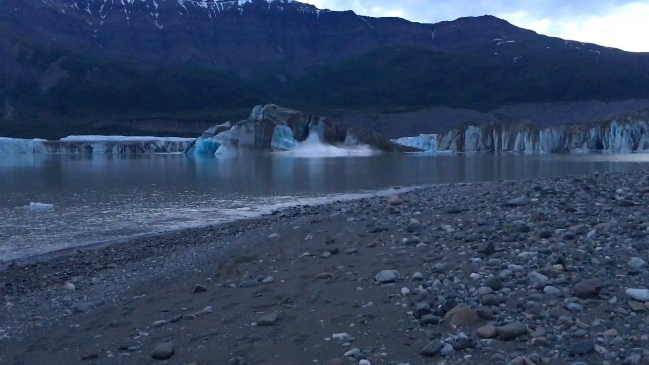 Watch: Glacier Calves in Wrangell-St. Elias National Park and Preserve, Alaska