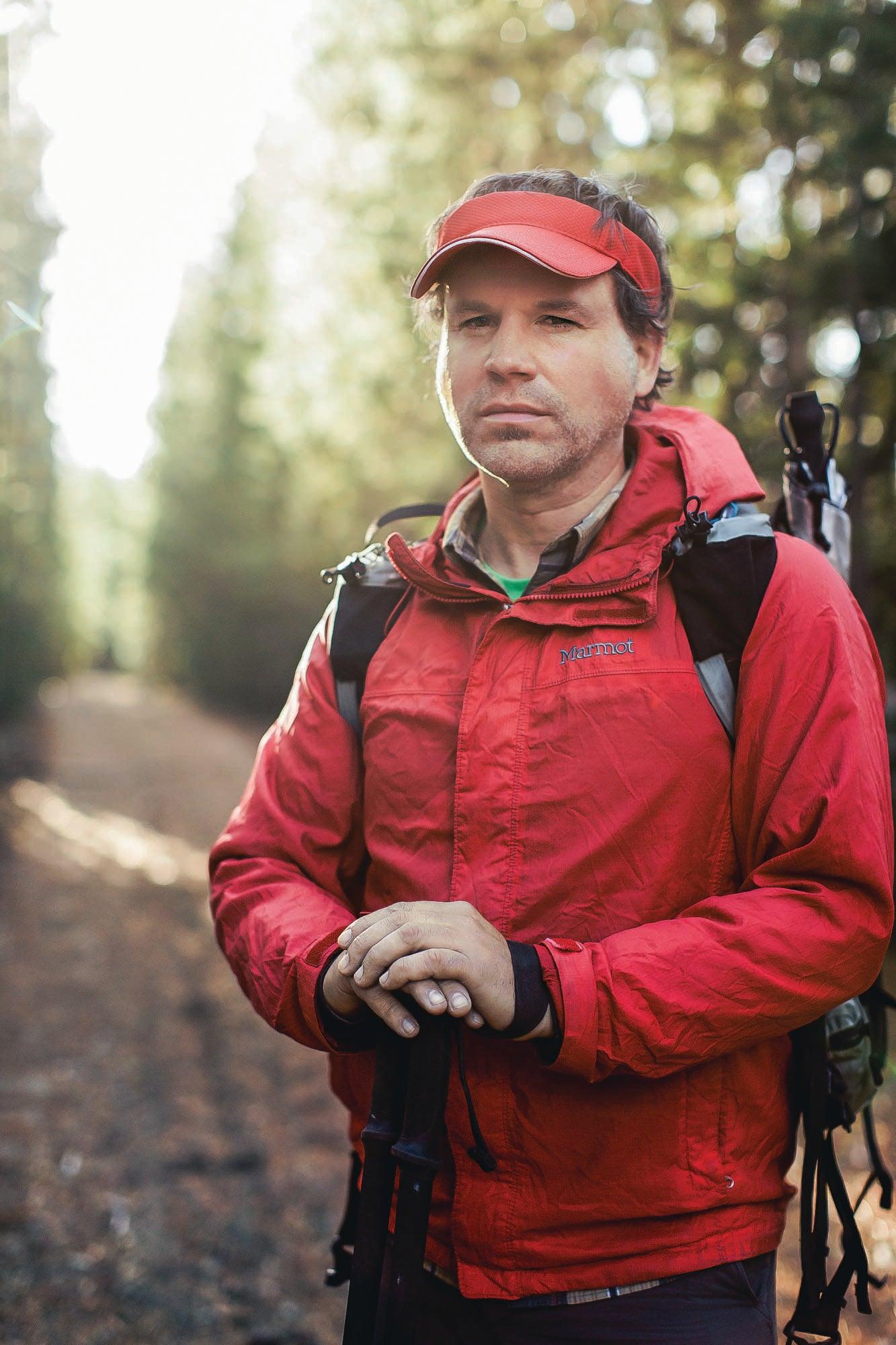 Portrait of hiker Rue McKenrick
